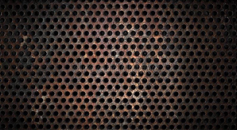背景网格生锈grunge的金属 免版税图库摄影