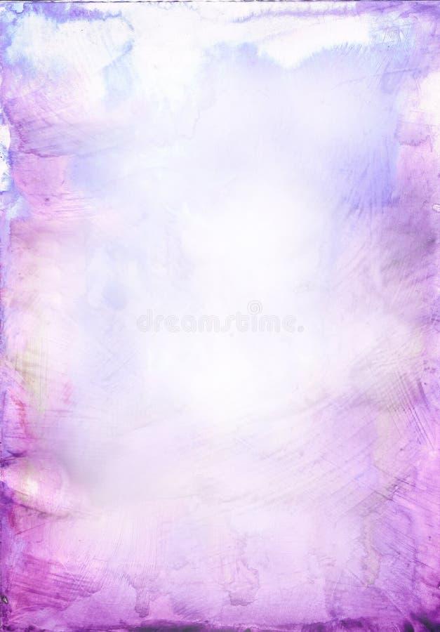 背景美丽的紫色软的水彩 皇族释放例证