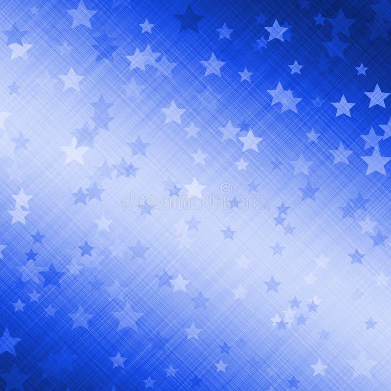 背景美丽的蓝色黑暗的星形 向量例证