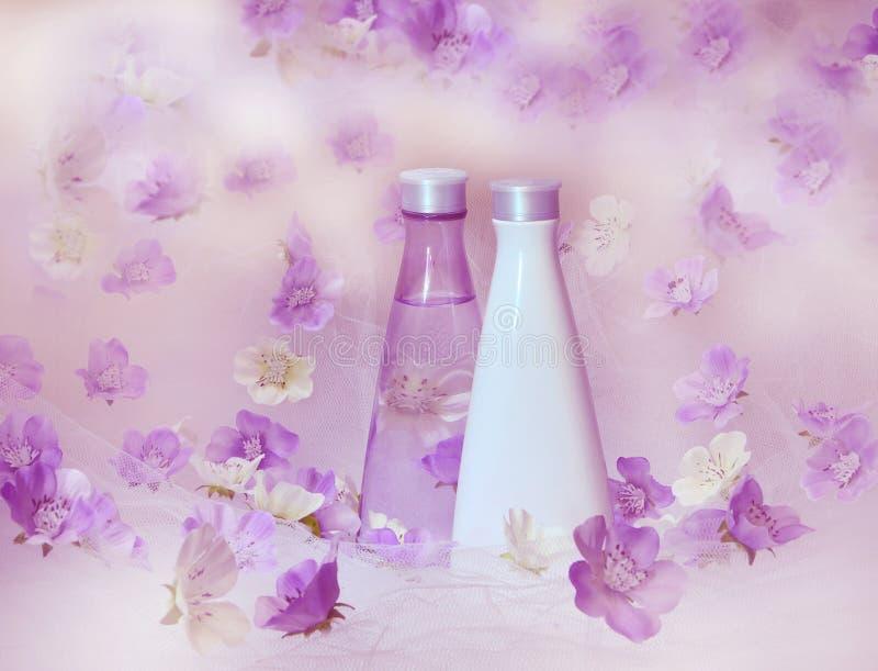 背景美丽的香水 免版税库存照片