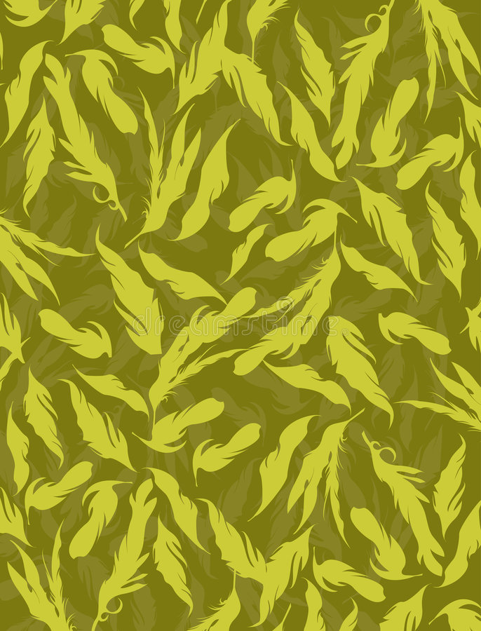背景羽毛黄色 向量例证