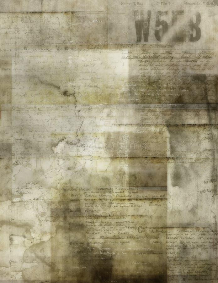 背景老纸张 皇族释放例证