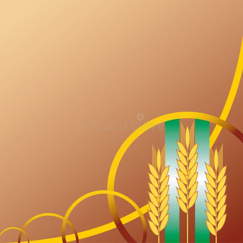 背景耳朵麦子 向量例证