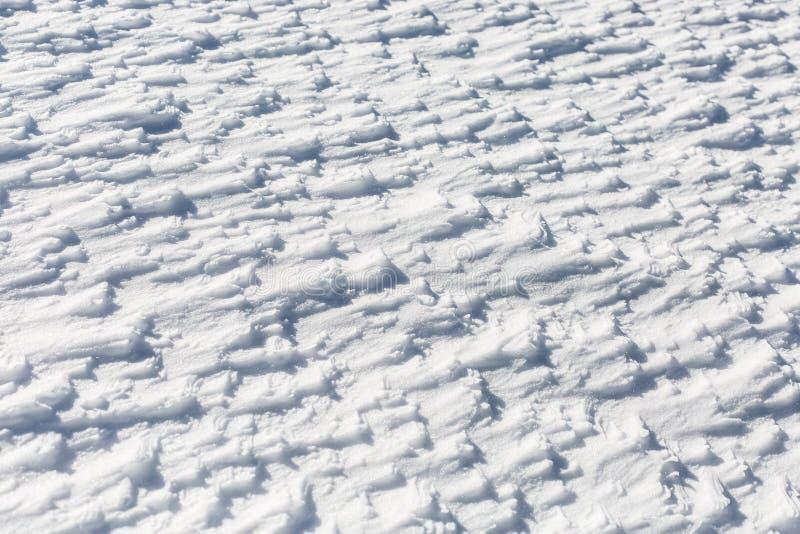 背景能使用的土块严重的报道的设计员数量雪表面 免版税图库摄影