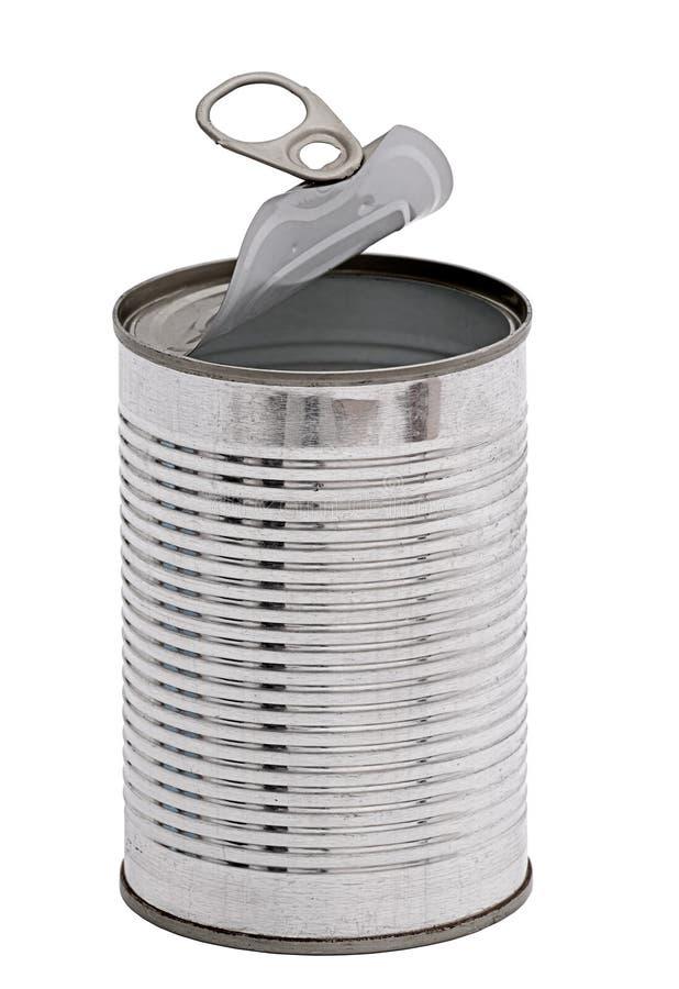 背景能查出的开放超出罐子白色 库存图片