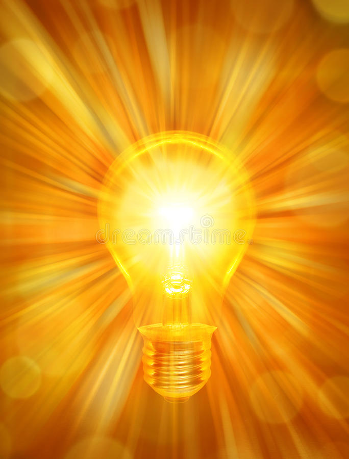 背景能源电灯泡 库存例证