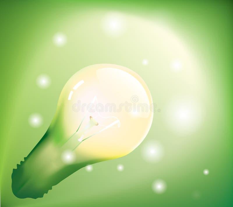 背景能源绿色 向量例证