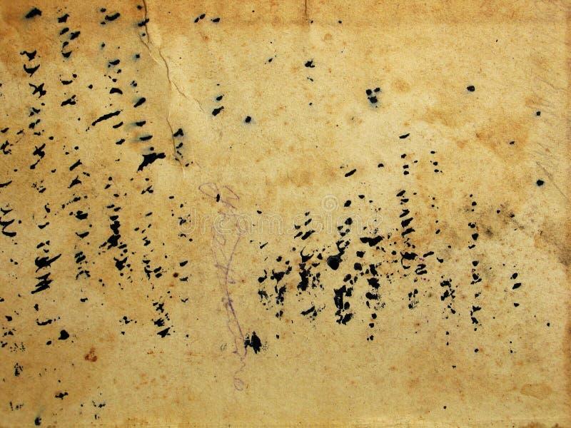 背景脏的老纸张 免版税图库摄影