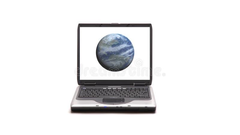 背景膝上型计算机白色 免版税库存照片