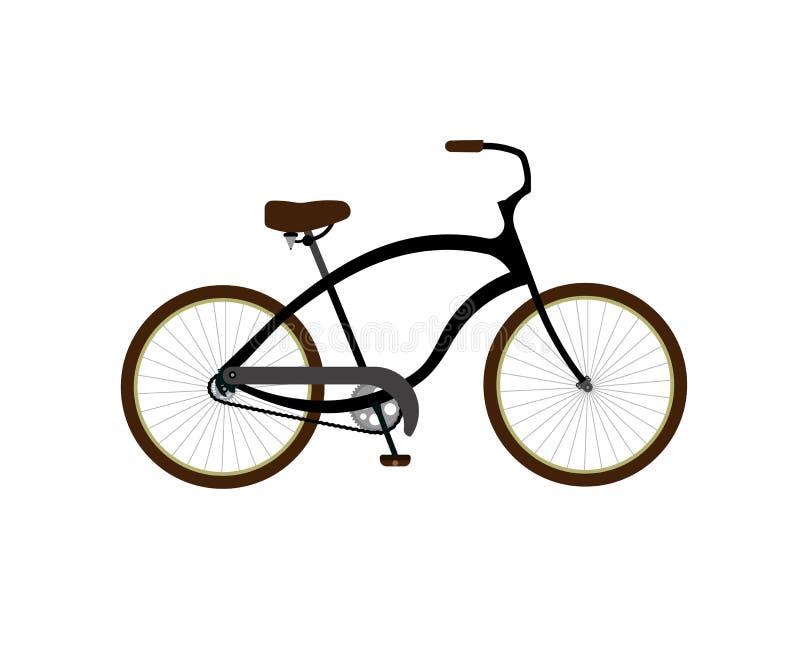 背景自行车查出的白色 库存例证