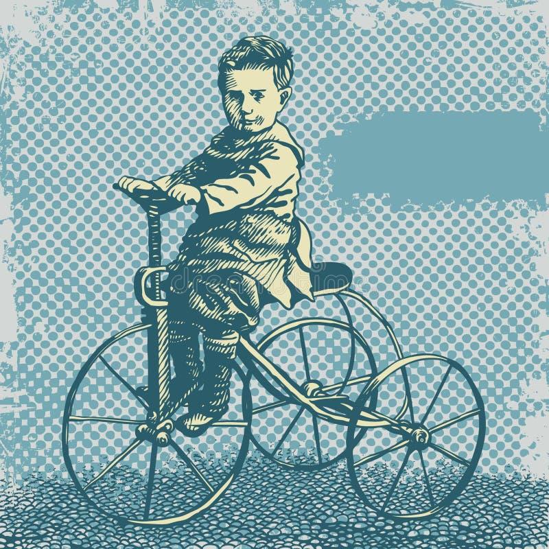 背景自行车男孩减速火箭的向量 皇族释放例证