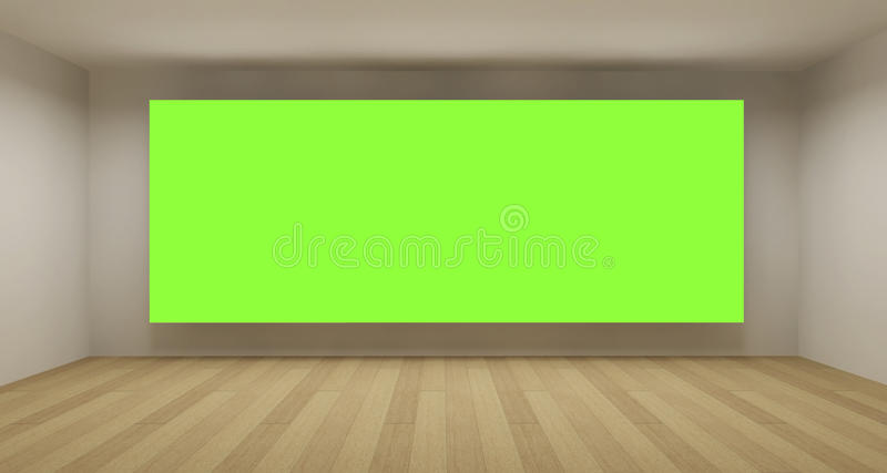 背景色度空的绿色关键空间 向量例证