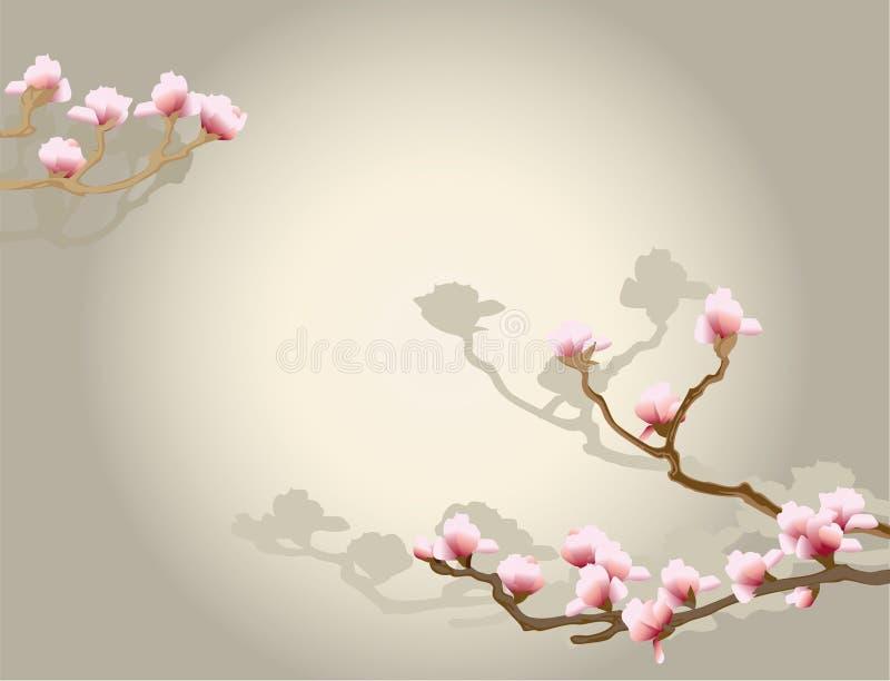 背景花卉东方人 库存照片