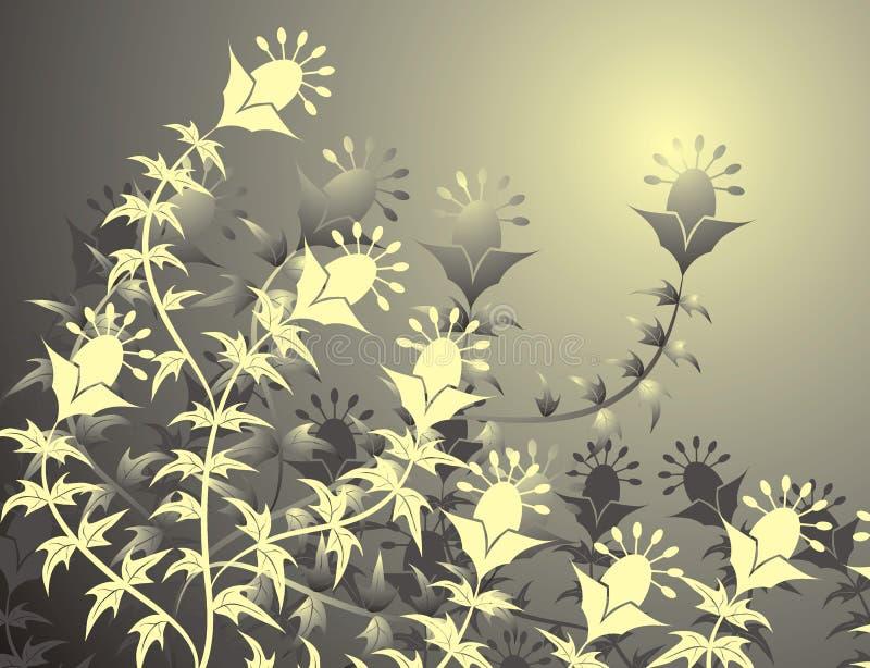 背景花卉向量 库存例证