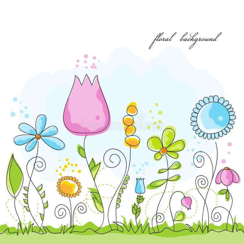 背景花卉夏天 向量例证