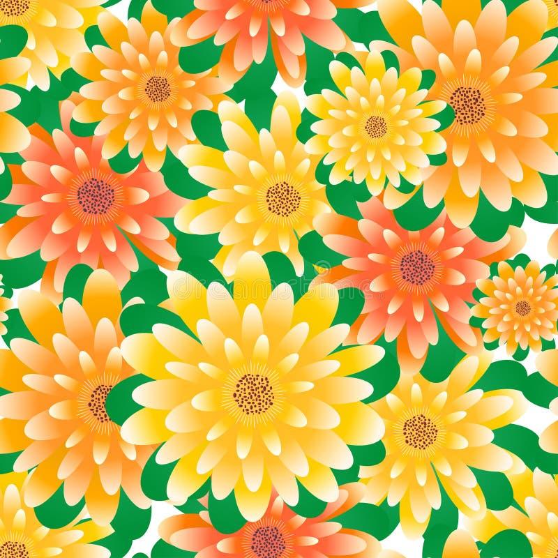 背景花卉无缝 皇族释放例证