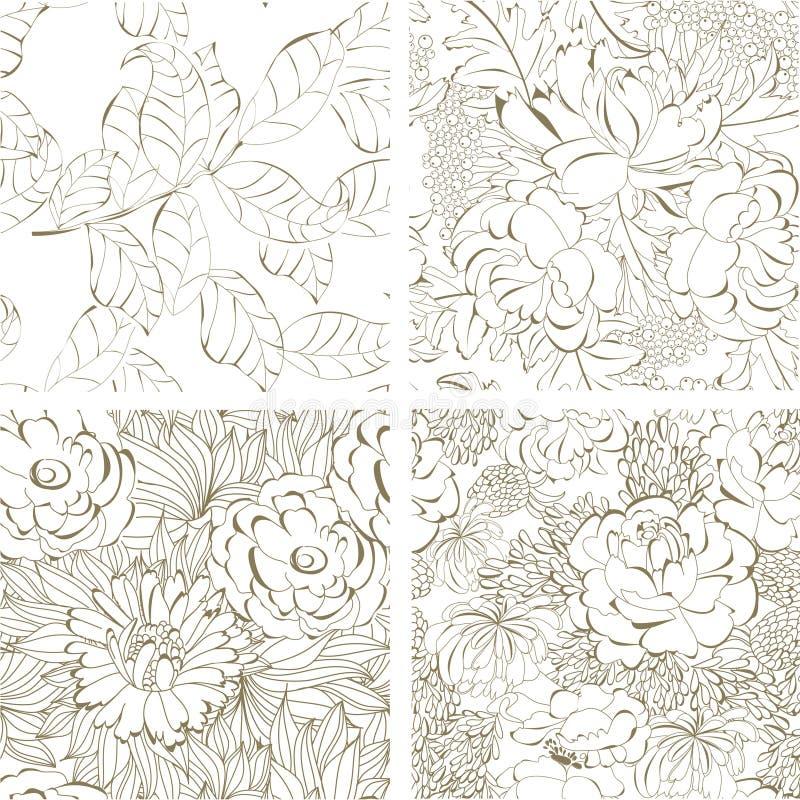 背景花卉无缝 库存例证