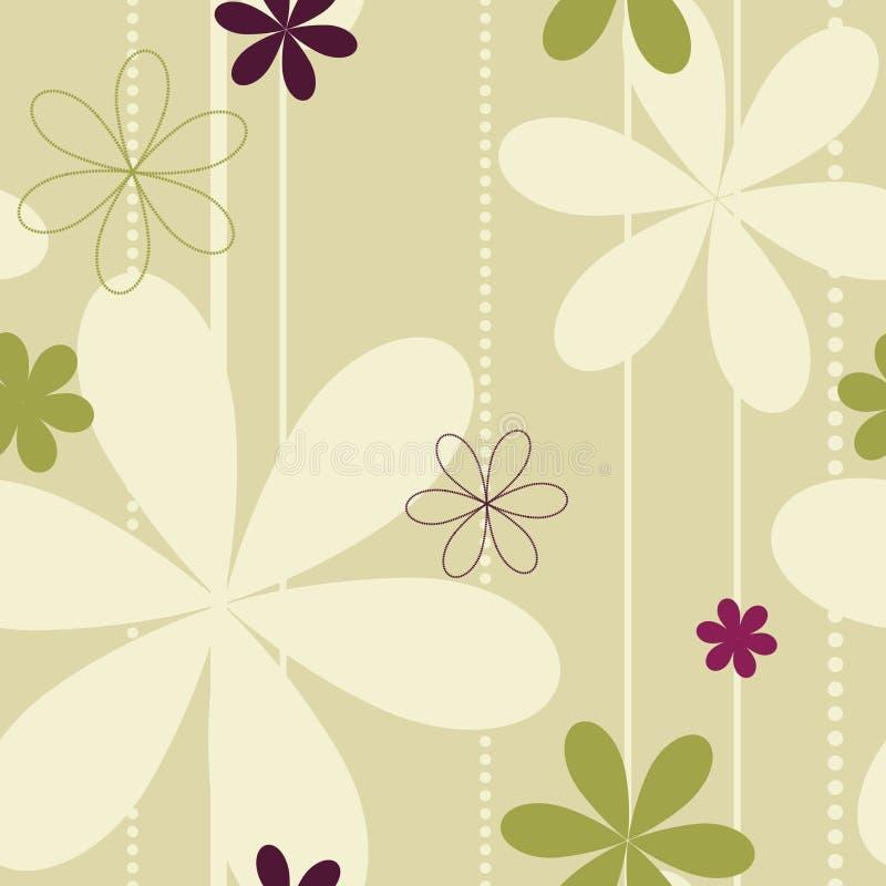 背景花卉无缝 向量例证
