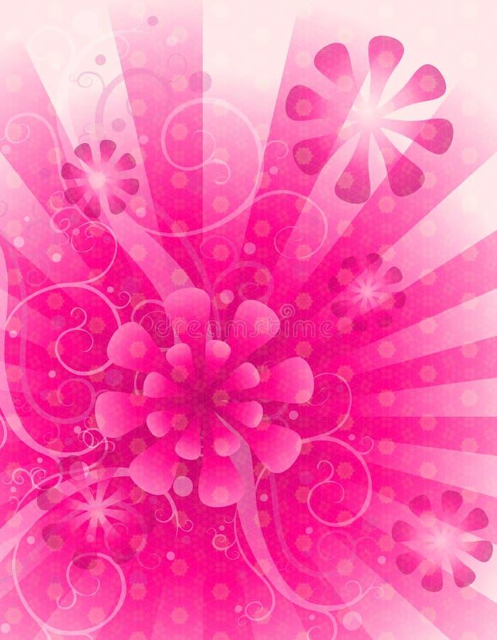背景花卉桃红色白色 皇族释放例证