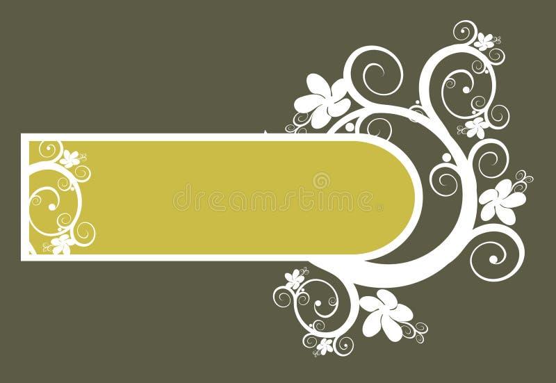 背景花卉框架向量 向量例证