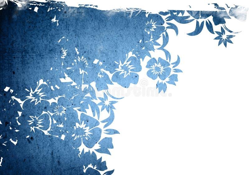 背景花卉框架样式 向量例证