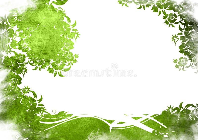 背景花卉框架样式 皇族释放例证
