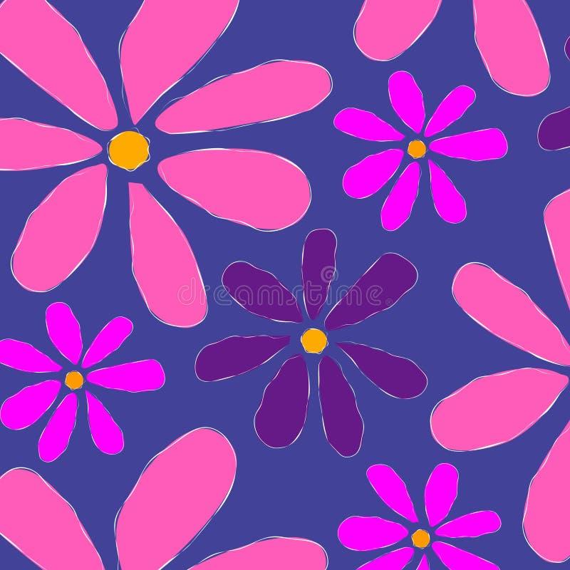 背景花卉模式粉红色 皇族释放例证