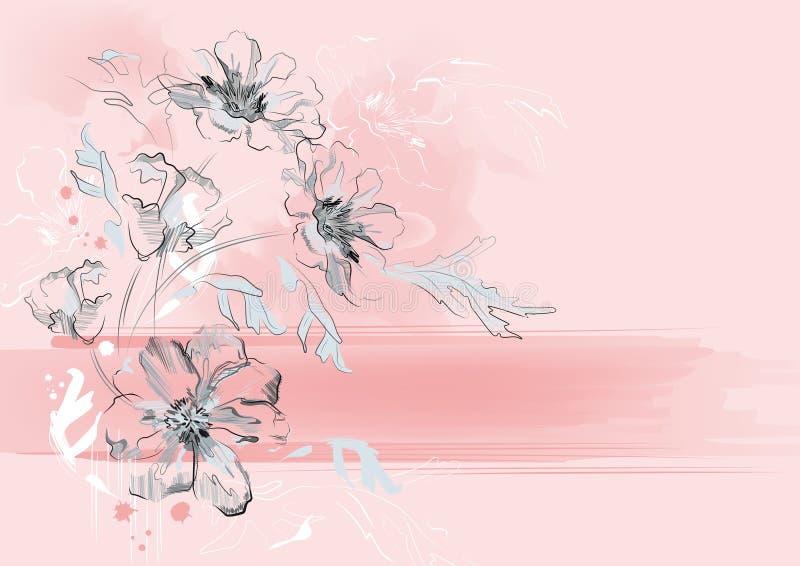 背景花卉浪漫 库存例证