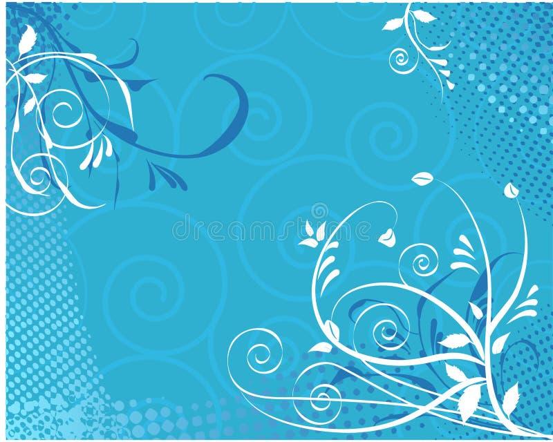 背景花卉漩涡 向量例证