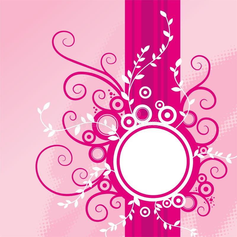 背景花卉粉红色 库存例证