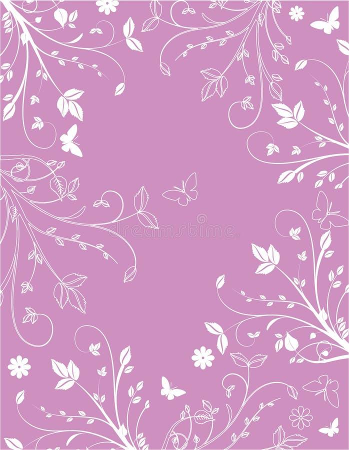 背景花卉粉红色 皇族释放例证