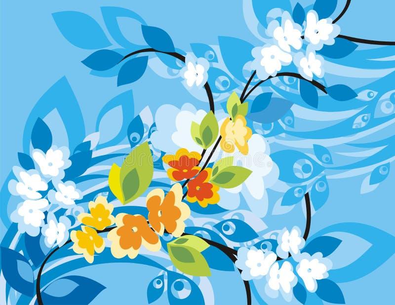 背景花卉系列 库存例证