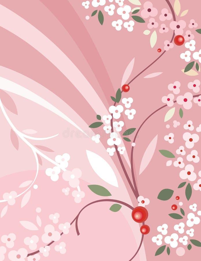 背景花卉系列 皇族释放例证