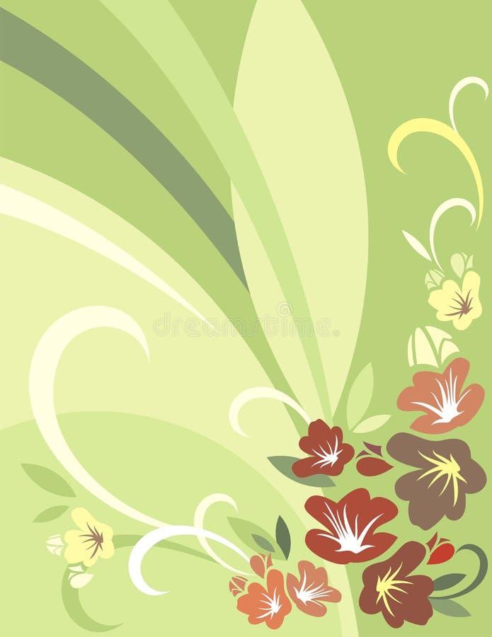 背景花卉系列 向量例证