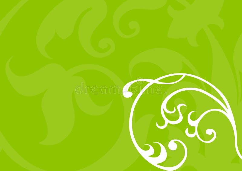 背景花卉绿色 皇族释放例证