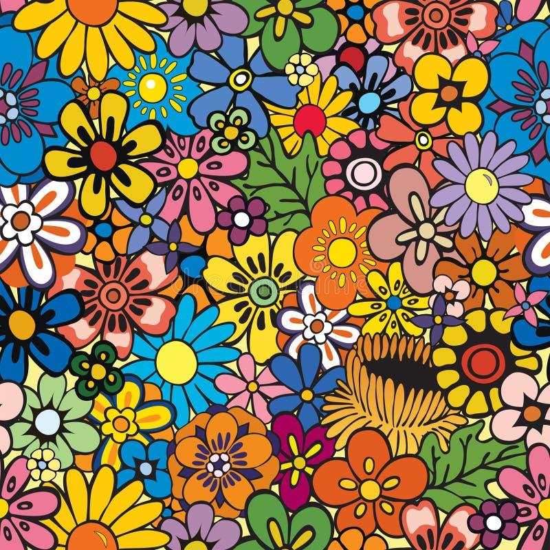 背景花卉重复 库存例证