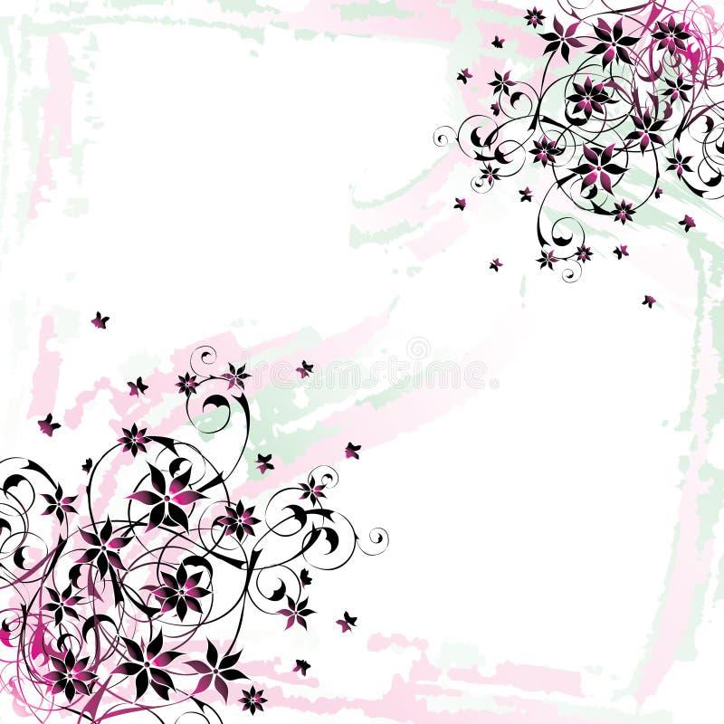 背景花卉grunge 向量例证