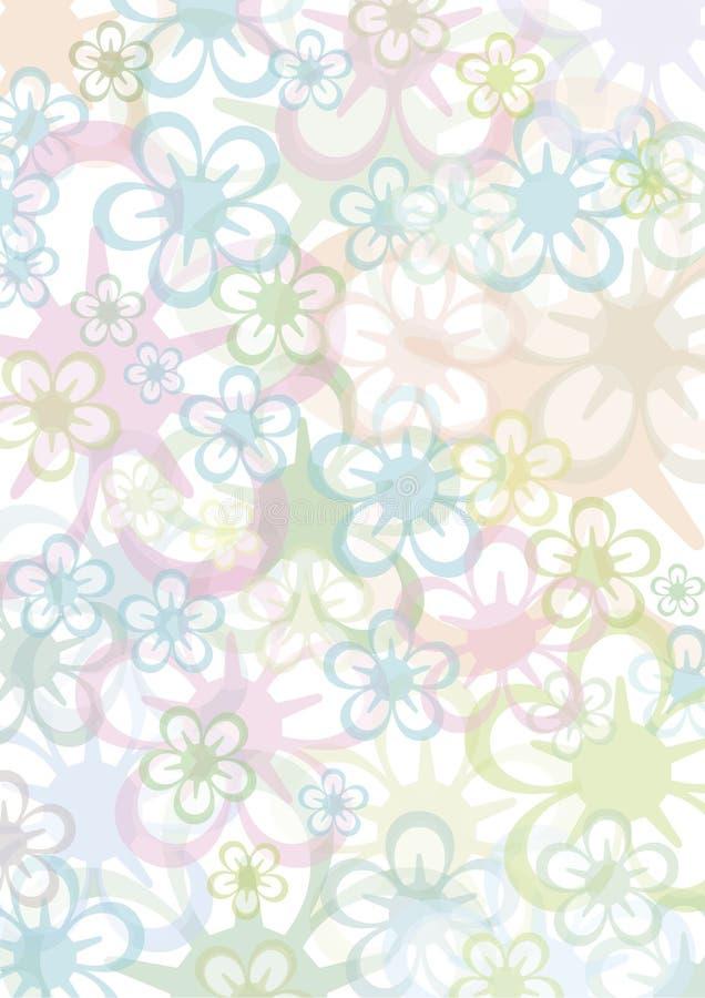 背景花卉pastell 库存例证