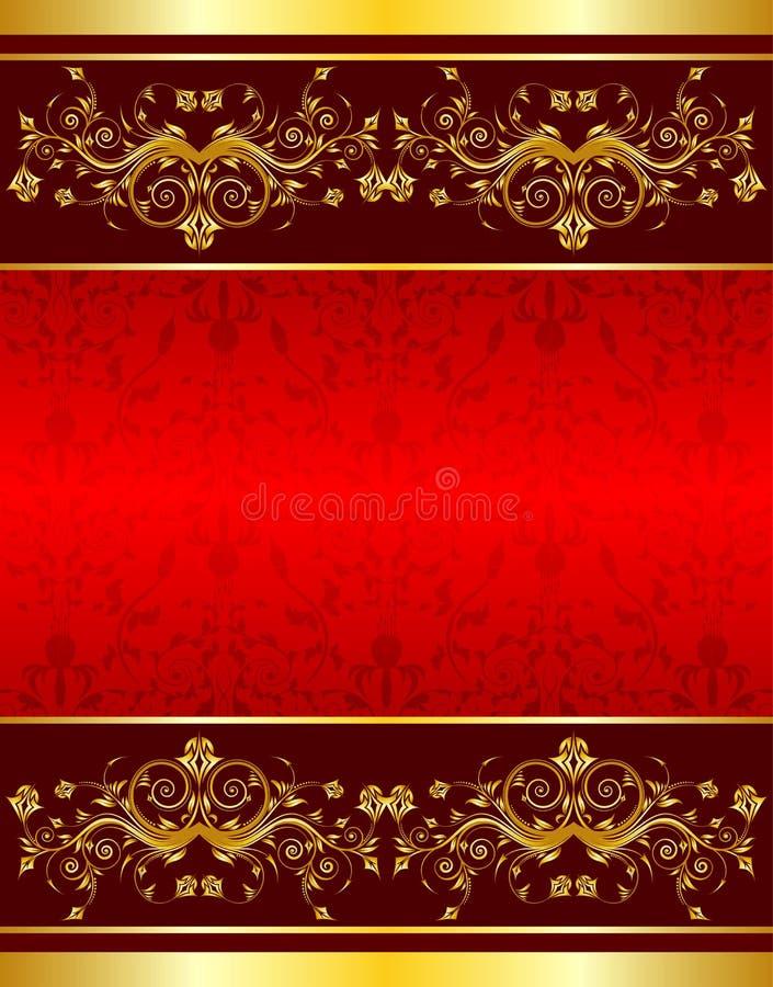 背景花框架 皇族释放例证