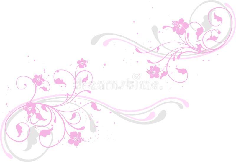背景花粉红色 库存例证