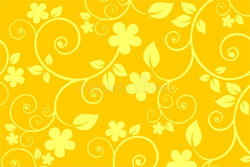 背景花黄色 向量例证