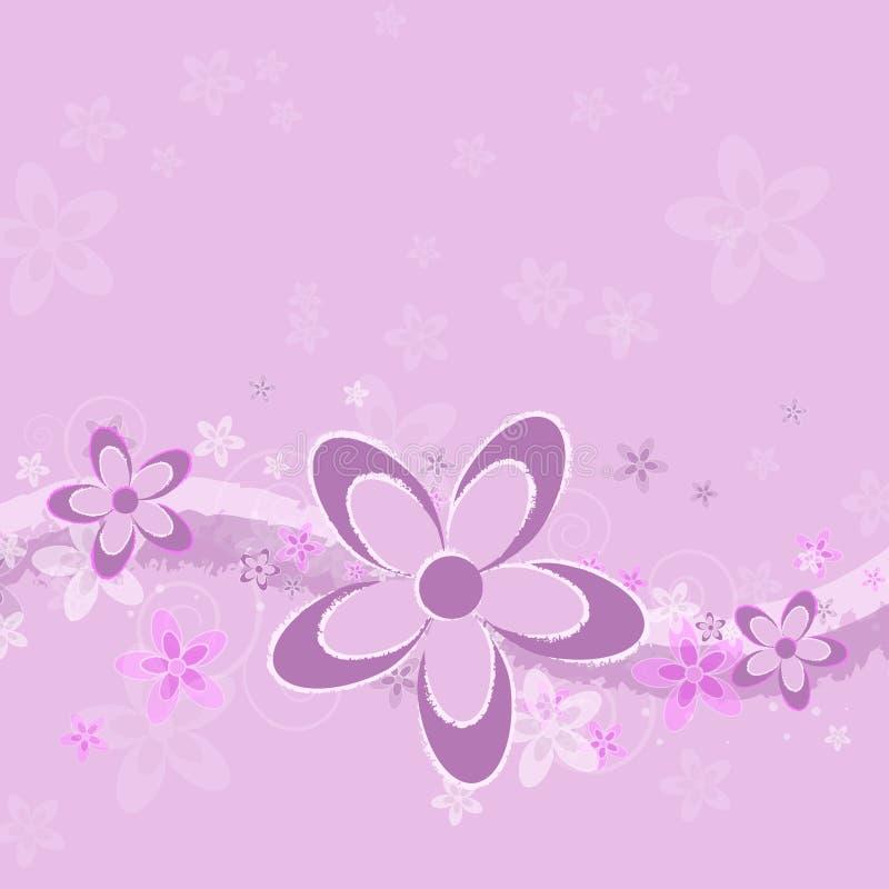 背景花grunge淡紫色 库存例证