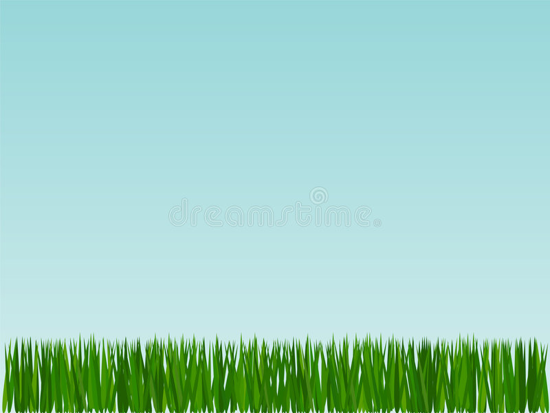 背景草天空 向量例证