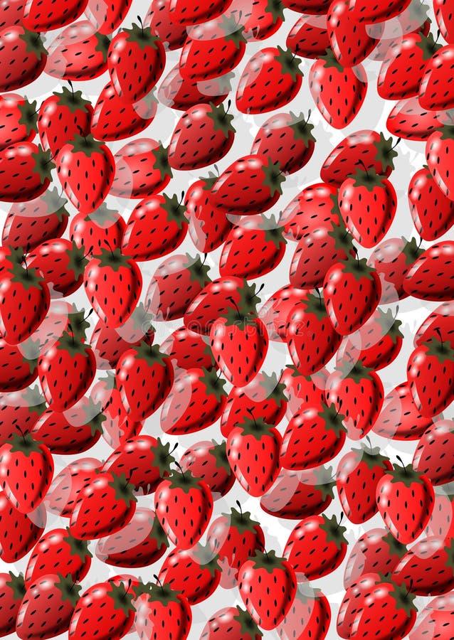 背景草莓 库存例证