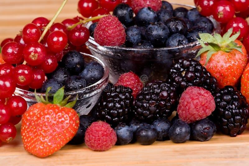 背景莓果 库存图片
