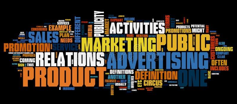 背景营销 向量例证