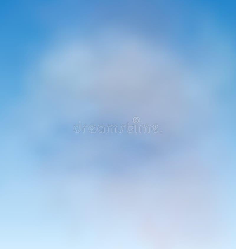 背景蓝天和云彩 皇族释放例证
