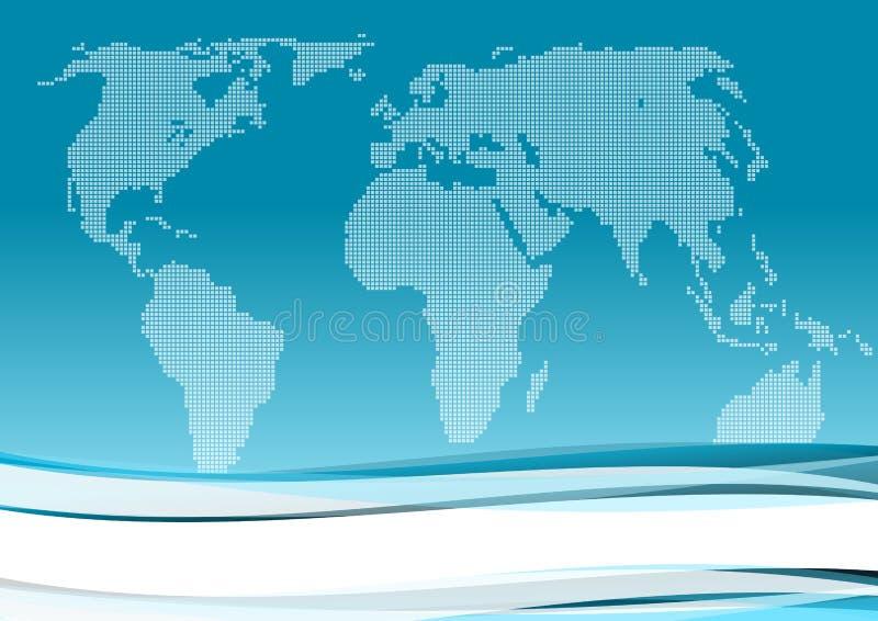 背景蓝色企业国际 向量例证