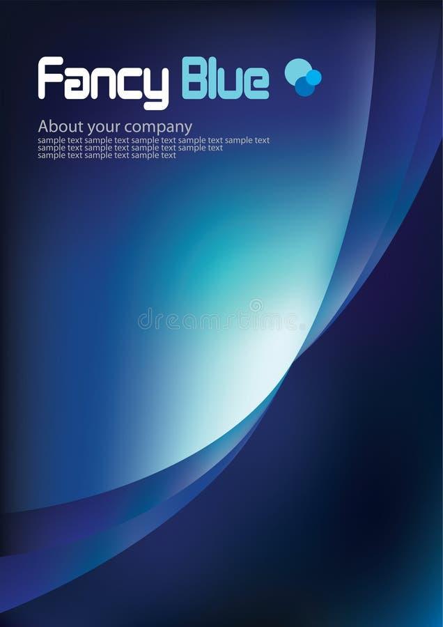 背景蓝色企业总公司黑暗的模板 皇族释放例证