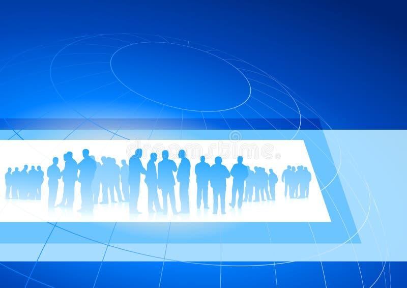 背景蓝色企业框架互联网小组 库存例证